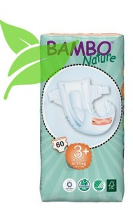 Bambo Nature Midi Plus 6-14kg, 60 szt.