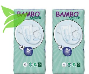Zestaw 2xBambo Nature 5+ Junior Plus 15-25kg, 44 szt.